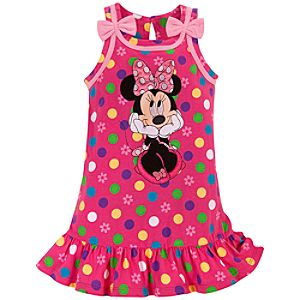 Polka Dot Minnie Mouse Dress for Toddler Girls