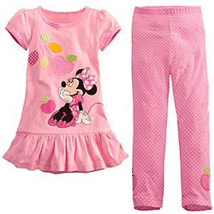 Minnie Mouse Dress Set for Toddler Girls -- 2-Pc.