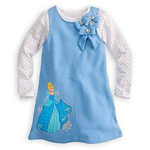 Long Sleeve Cinderella Fleece Jumper Set for Girls -- 2-Pc.