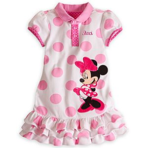 Minnie Mouse Polo Dress for Girls - Personalizable