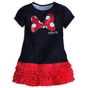 Minnie Mouse Black Knit Dress for Girls