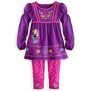 Anna Knit Dress and Leggings Set for Girls - Frozen
