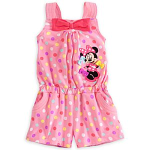 Minnie Mouse Knit Romper for Girls