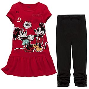 Mickey and Minnie Mouse Dress Set for Girls