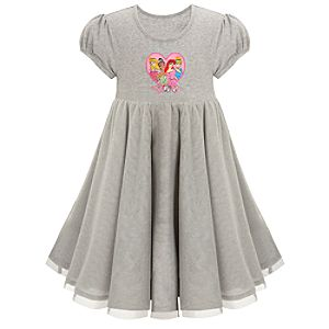 Gray Cotton and Tulle Disney Princess Dress for Girls