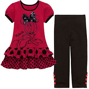 Ruffles and Polka Dots Minnie Mouse Dress Set for Girls -- 2-Pc.