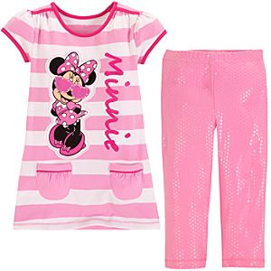 Superstar Minnie Mouse Dress Set for Toddler Girls -- 2-Pc.