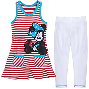 Striped Minnie Mouse Dress Set for Girls -- 2-Pc.