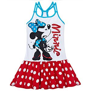 Glittering Minnie Mouse Dress for Girls
