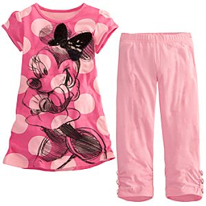 Sketch Minnie Mouse Dress Set for Girls -- 2-Pc.
