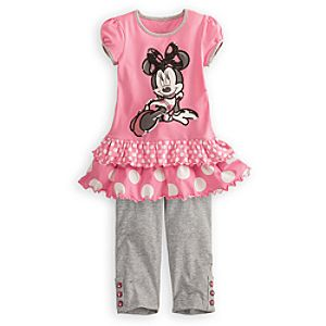 Sequined Minnie Mouse Dress Set for Girls -- 2-Pc.