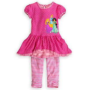 Disney Princess Dress and Leggings Set for Girls