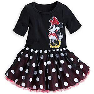 Minnie Mouse Black Dress for Girls