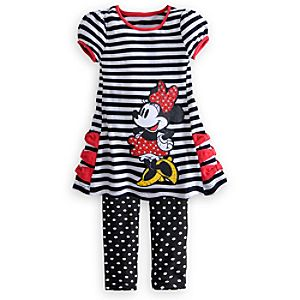 Minnie Mouse Dress and Leggings Set for Girls