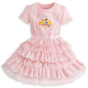 Disney Princess Ruffled Dress for Girls