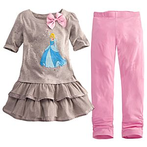 Ruffled Cinderella Dress and Legging Set for Girls -- 2-Pc.