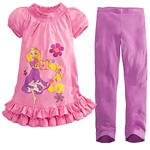 Rapunzel Dress Set for Girls