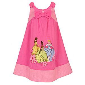 Bow Disney Princess Woven Dress for Girls