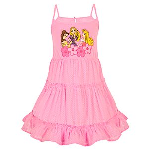 Ruffled Disney Princess Dress for Girls