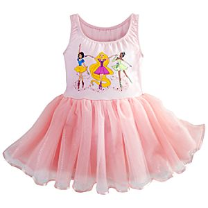 Ballerina Disney Princess Rhinestone Tutu Leotard for Girls