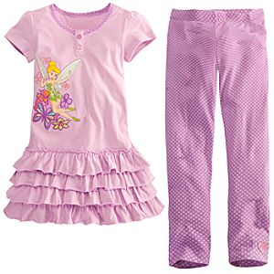 Tinker Bell Dress Set for Girls -- 2-Pc.