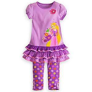Rapunzel Dress and Leggings Set for Girls