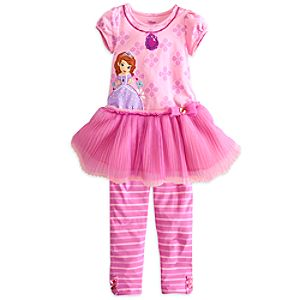 Sofia Dress with Leggings Set for Girls