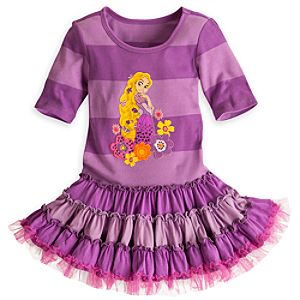 Rapunzel Purple Striped Knit Dress for Girls