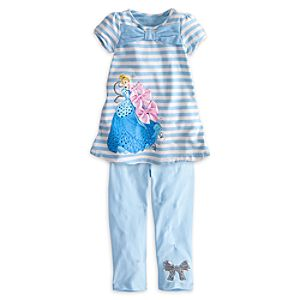 Cinderella Dress and Leggings Set for Girls