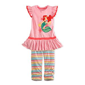 Little Mermaid Dress and Leggings Set for Girls