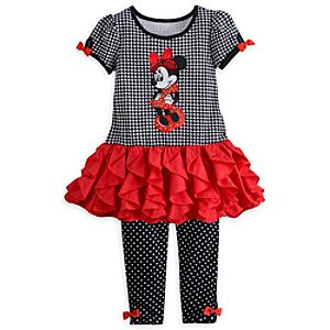 Minnie Mouse Knit Dress and Leggings Set for Girls