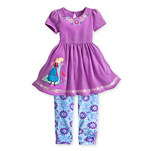 Anna and Elsa Dress and Leggings Set for Girls - Frozen