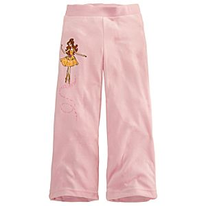 Velour Ballerina Disney Princess Pants for Girls