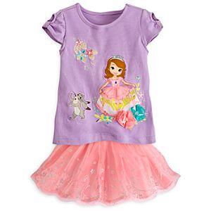 Sofia Pink Top and Skort Set for Girls