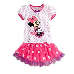 Minnie Mouse Top and Tutu Skirt Set for Girls