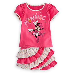 Minnie Mouse Skirt Set for Girls