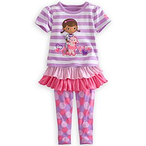 Doc McStuffins Tee and Leggings with Skirt Set for Girls