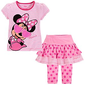 Minnie Mouse Skirt Set for Girls -- 2-Pc.