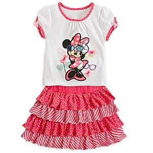 Minnie Mouse Top and Skort Set for Girls
