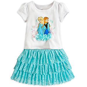Anna and Elsa Top and Skort Set for Girls - Frozen