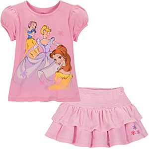 Disney Princess Skirt Set for Girls -- 2-Pc.
