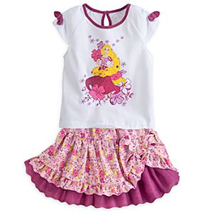 Rapunzel Top and Skirt Set for Girls