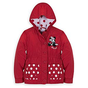 Personalizable Polka Dot Minnie Mouse Jacket for Girls