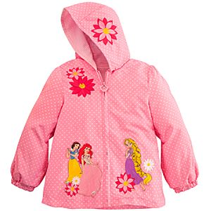 Personalizable Hooded Disney Princess Jacket for Girls
