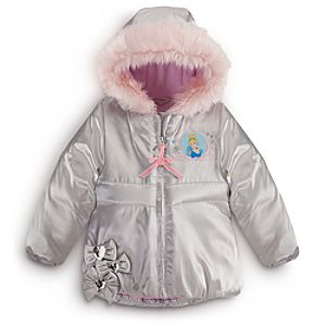 Personalizable Puffy Cinderella Jacket for Girls