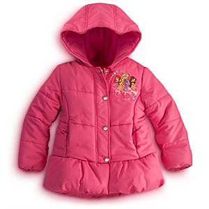 Personalizable Puffy Disney Princess Jacket for Girls