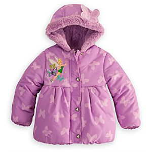 Personalizable Puffy Tinker Bell Jacket for Girls