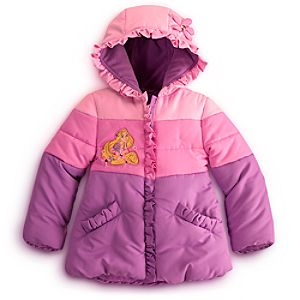 Personalizable Puffy Rapunzel Jacket for Girls
