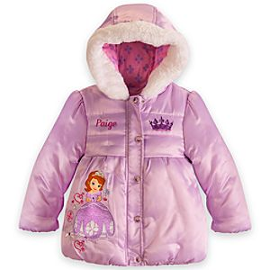Sofia Puffy Jacket for Girls - Personalized