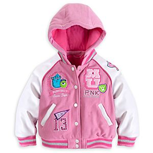 Monsters University Hooded Varsity Jacket for Girls